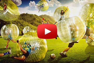 Skoj amerikansk Bubble Football-match